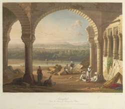 Aurangabad from the ruins of Aurungzebe's Palace, drawn in 1813